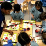 working together in kindergartn