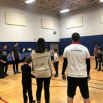 Families played games together after listening to an inspirational talk from United Play.