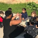 Kindergarten class outside